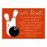 Let's Bowl Party Invitation