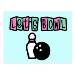 Let's Bowl! Postcard