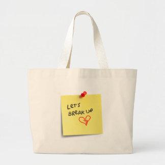 Let's break up! jumbo tote bag