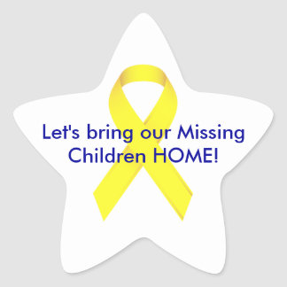 Let's bring our Missing Children HOME! Star Sticker