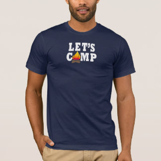 Let's Camp Campfire Tshirt