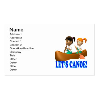 Lets Canoe 2 Business Card Templates