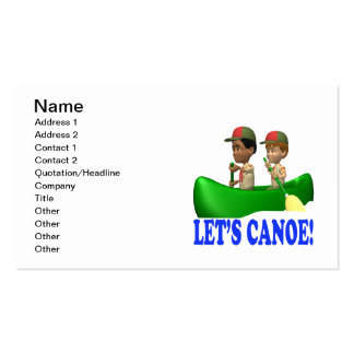Lets Canoe Business Card Template
