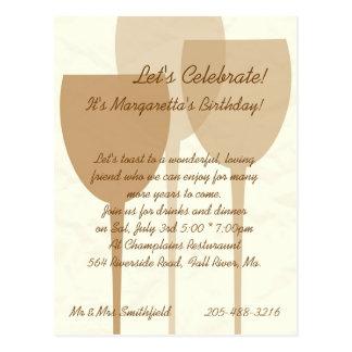 Let's Celebrate Birthday Invitation Postcard