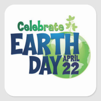 Let's Celebrate Earth Day Stickers