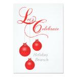 Let's Celebrate Holiday Brunch 13 Cm X 18 Cm Invitation Card