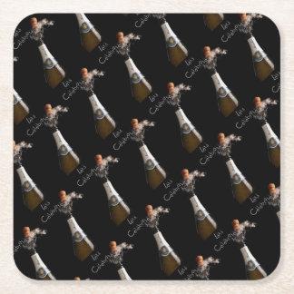 Let's Celebrate Square Paper Coaster