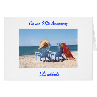 "LET'S CELEBRATE ""US"" -  25th WEDDING ANNIVERARY Greeting Card"