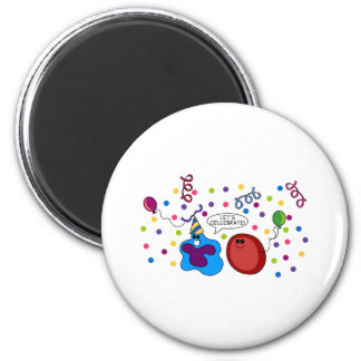 Let's Cellebrate 6 Cm Round Magnet