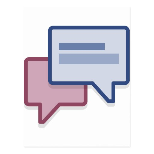 Let's chat on facebook post card