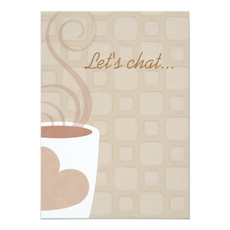 Let's chat over coffee luncheon invitation