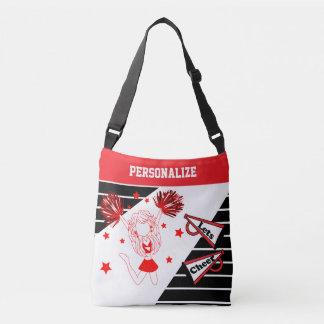 Let's Cheer Red Cheerleader Girl Tote Bag