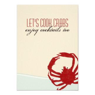 Let's Cook Crabs Crab Boil Invitation