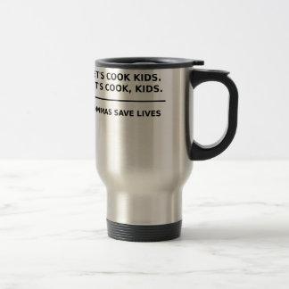 Lets Cook Kids Commas Save Lives Stainless Steel Travel Mug