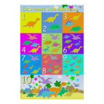 Let's Count With Dinosaurs Numbers 1 - 10 Counting Poster