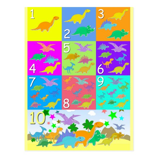 Let's Count With Dinosaurs Numbers 1 to 10