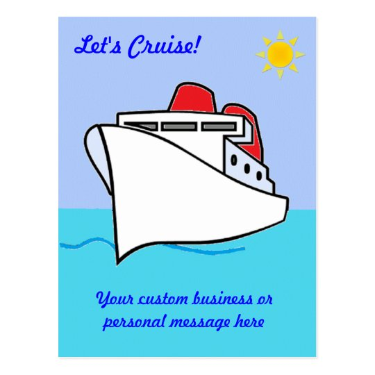 Let's Cruise Custom Postcard
