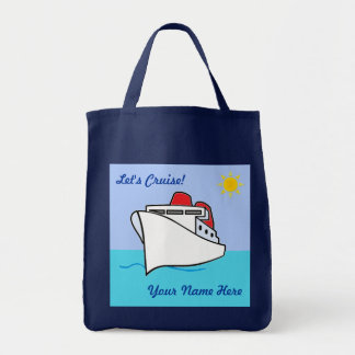 Let's Cruise Fun Personalized Grocery Tote Bag