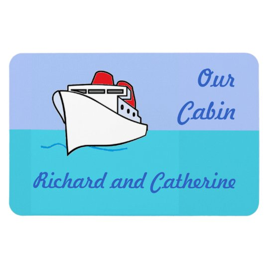 Let's Cruise Personalised Stateroom Door Marker Magnet