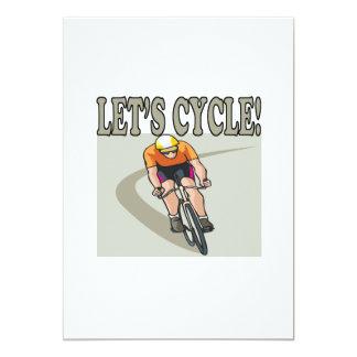 Lets Cycle 13 Cm X 18 Cm Invitation Card
