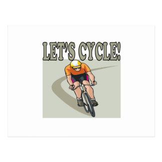 Lets Cycle Postcard