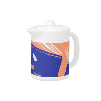 Let's Dance // Bright Abstract Teapot