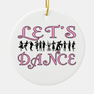 Let's Dance Dancing Couples Christmas Ornament