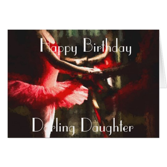 LETS DANCE DAUGHTER GREETING CARD