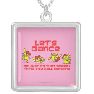 Let's Dance Silver Plated Necklace