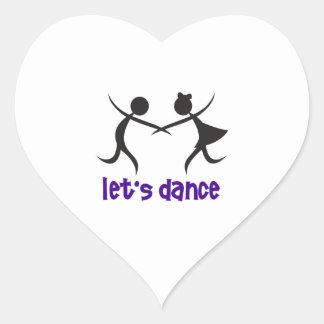 LETS DANCE HEART STICKERS