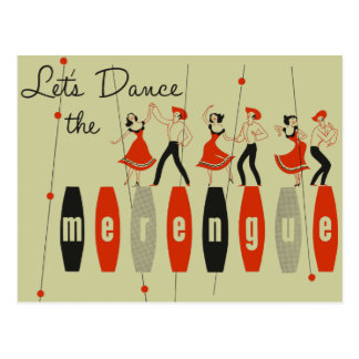 Let's Dance the Merengue Postcard