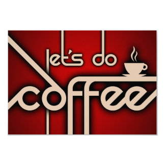 let's do coffee 3.5x5 paper invitation card