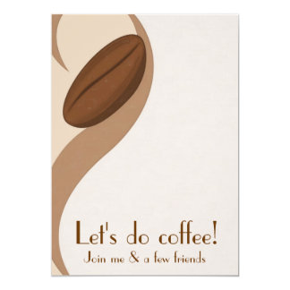 Let's do Coffee Luncheon Invitation