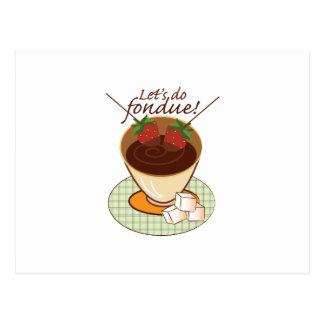 Let's do fondue! postcard