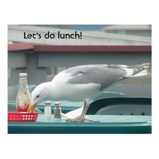 """Let's do lunch!"" Postcard"
