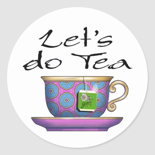 Let's do Tea - 011 Classic Round Sticker
