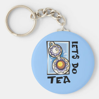 Let's Do Tea Key Ring