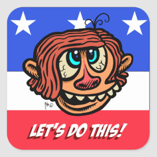 Let's Do This!, Square Stickers, Glossy Square Sticker