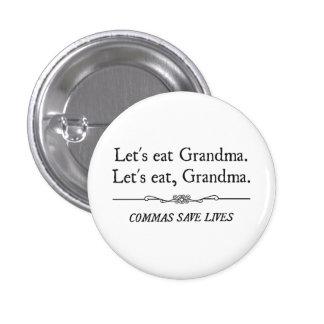 Let's Eat Grandma Commas Save Lives Buttons