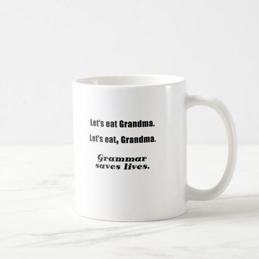 Let's Eat Grandma Grammar Saves Lives Mugs