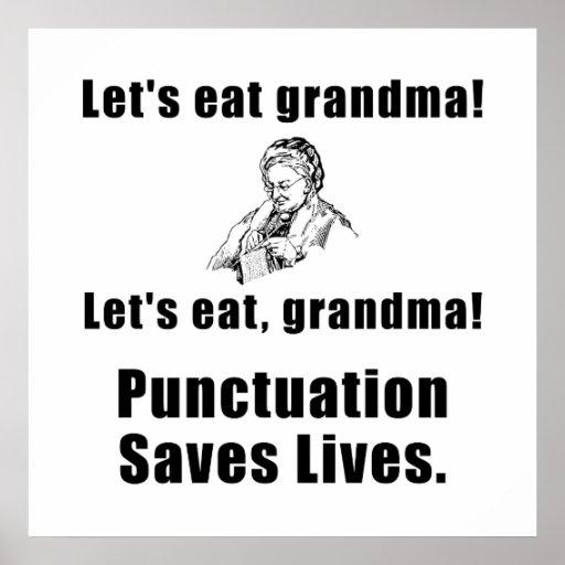 Lets Eat Grandma Poster   Zazzle