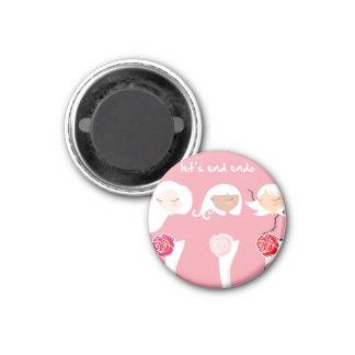 Let's End Endo Button Magnets