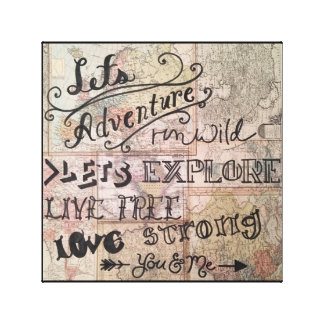 Let's Explore... You and Me Canvas Print
