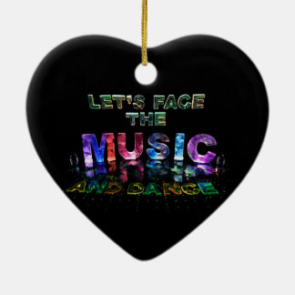 Let's Face the Music & Dance Christmas Ornament
