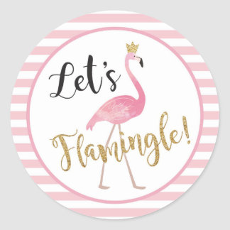 Let's Flamingle! Flamingo Sticker