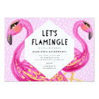 Let's Flamingle Party Invitation