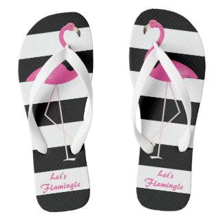 Let's Flamingo Flip Flops