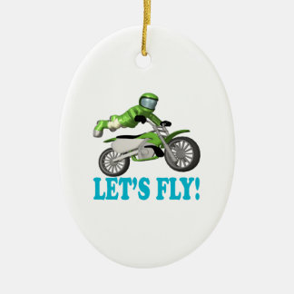 Lets Fly 2 Christmas Ornament