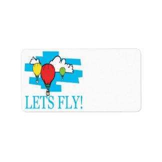 Lets Fly Address Label