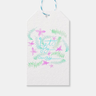 Lets fly away gift tags